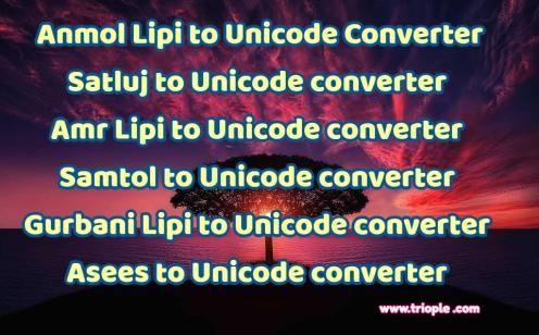 Anmol Lipi to Unicode converter | Triople